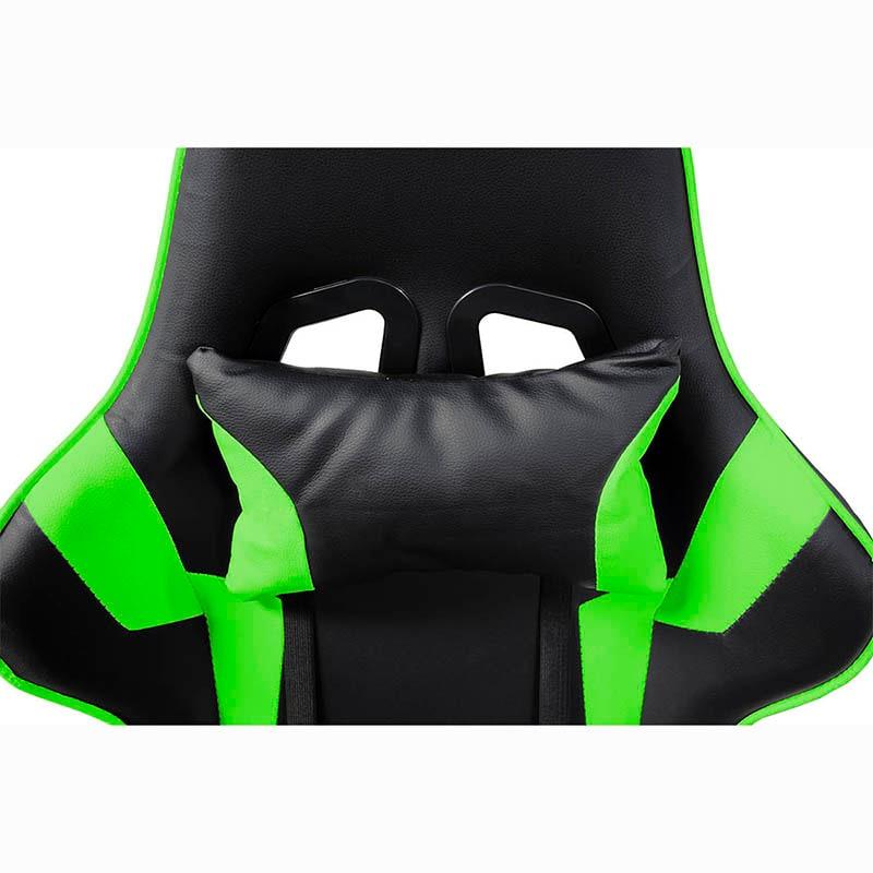 Silla Gamer Consola Pc Ergonomica Reclinable Verde Gaming