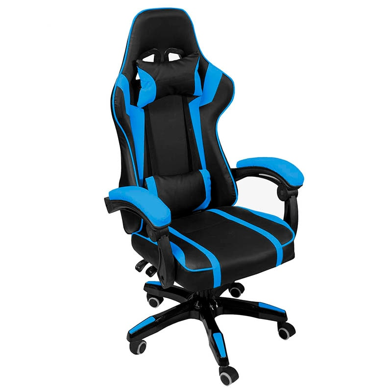 Silla Gamer Consola Pc Ergonomica Reclinable Azul Gaming