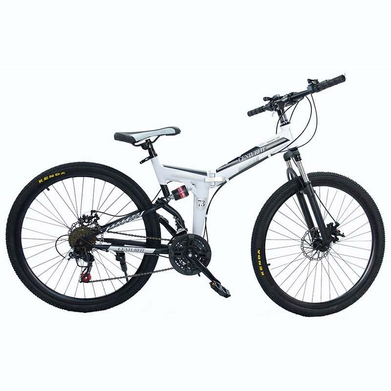 Bicicleta Montaña Rodada Plegable 26 - 21 Velocidades Centurfit Blanco