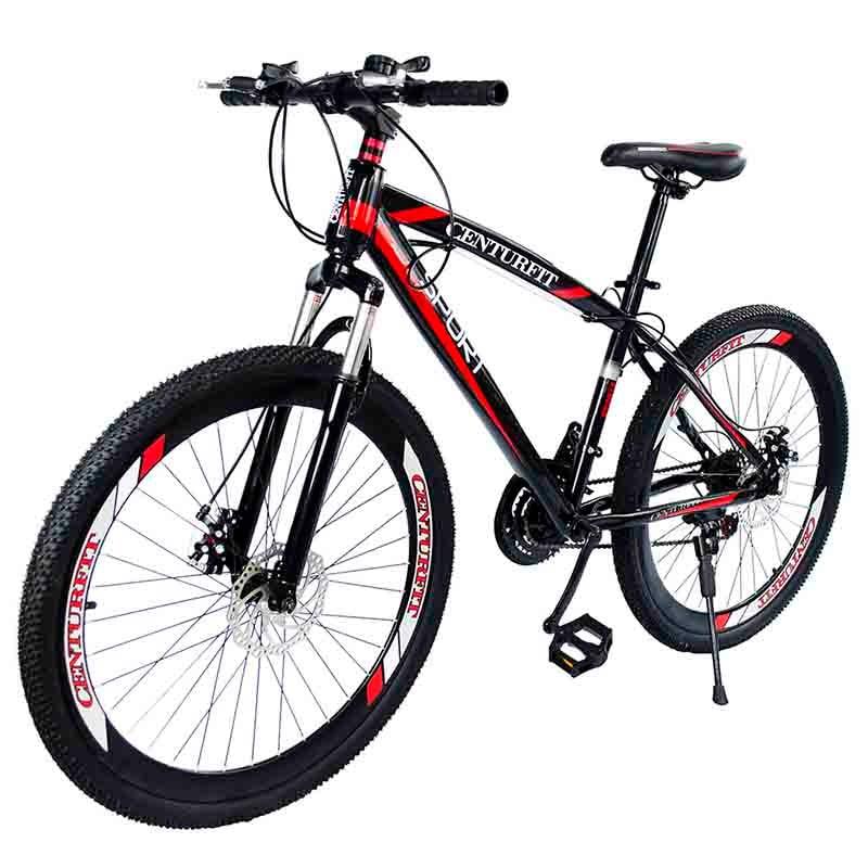 Bicicleta Deportiva R26-21 Velocidades Centurfit Ruta Rojo 150Kg