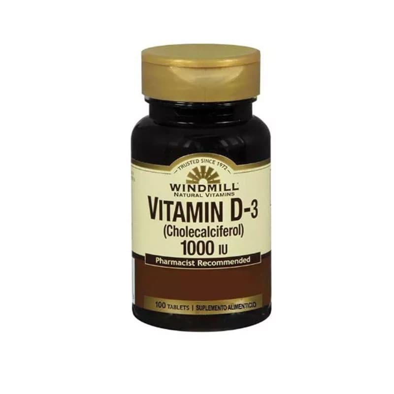 Vitamina D-3 Windmill 100 Tabletas