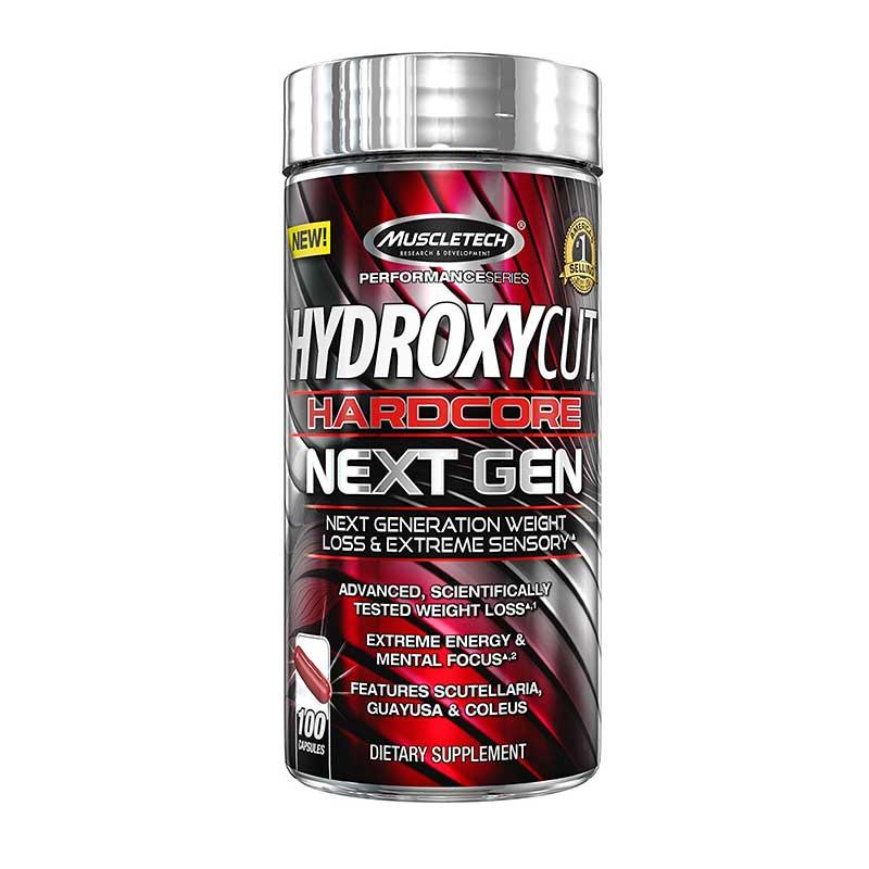 Suplemento Hydroxycut Hardcore Elite Next Gen, 100 Caps