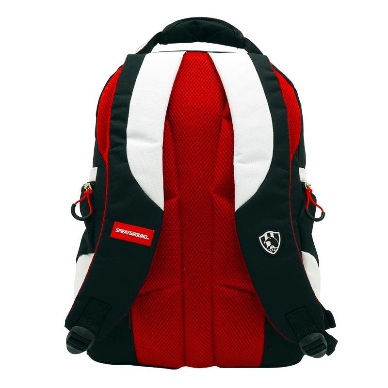 Mochila Escolar ATM PACKS, Club de Cuervos 4221-Negro con Rojo