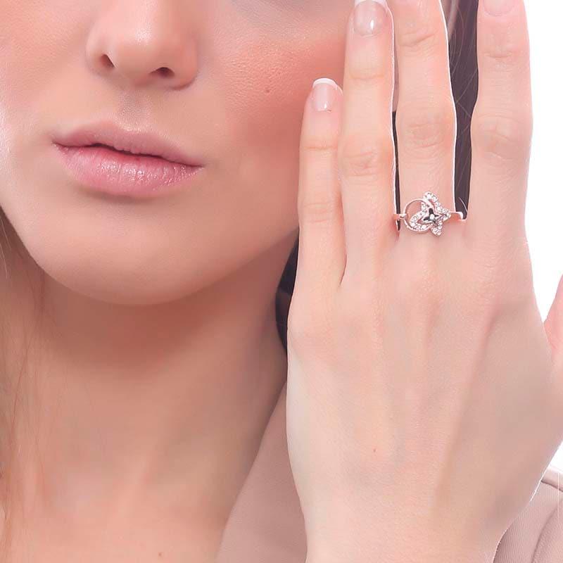Anillo Florence on Pink, Amor de Cristal