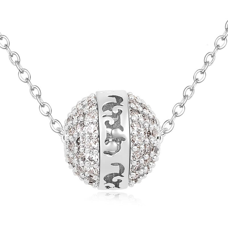 Dije con cadena Angel Ball on Silver, Amor de Cristal