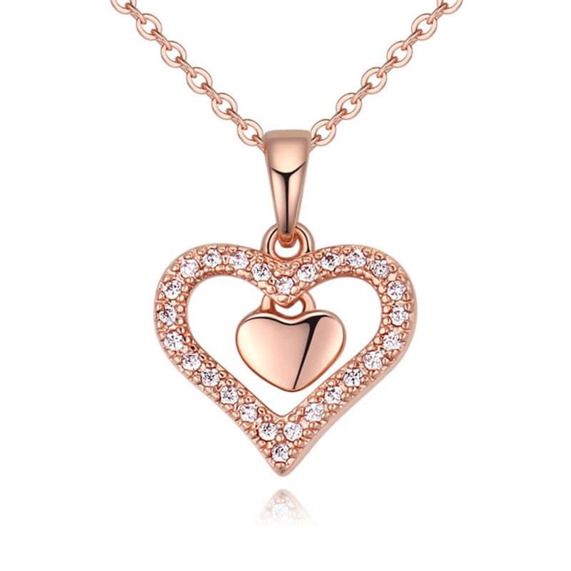 Dije con cadena Grace on Pink, Amor de Cristal
