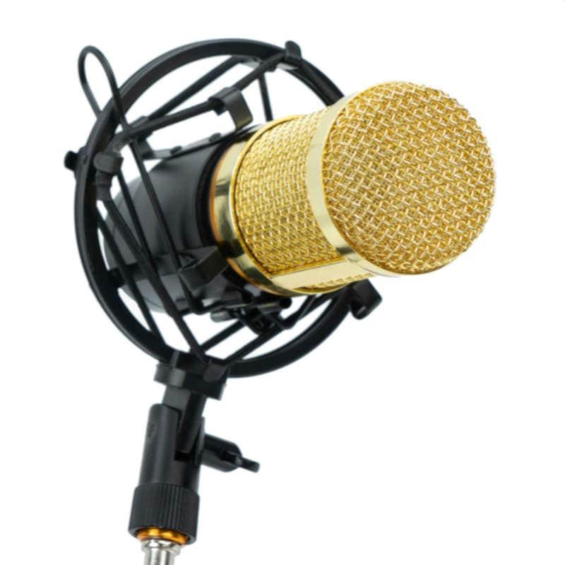 Microfono Condensador Set con Accesorios de Grabacion