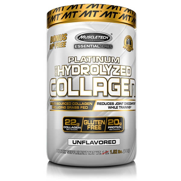 Colageno Muscletech Platinum Hydrolizado 62 Servicios