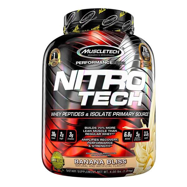 Proteina Muscletech Nitro Tech 40 Servicios - Mocha Capuchino