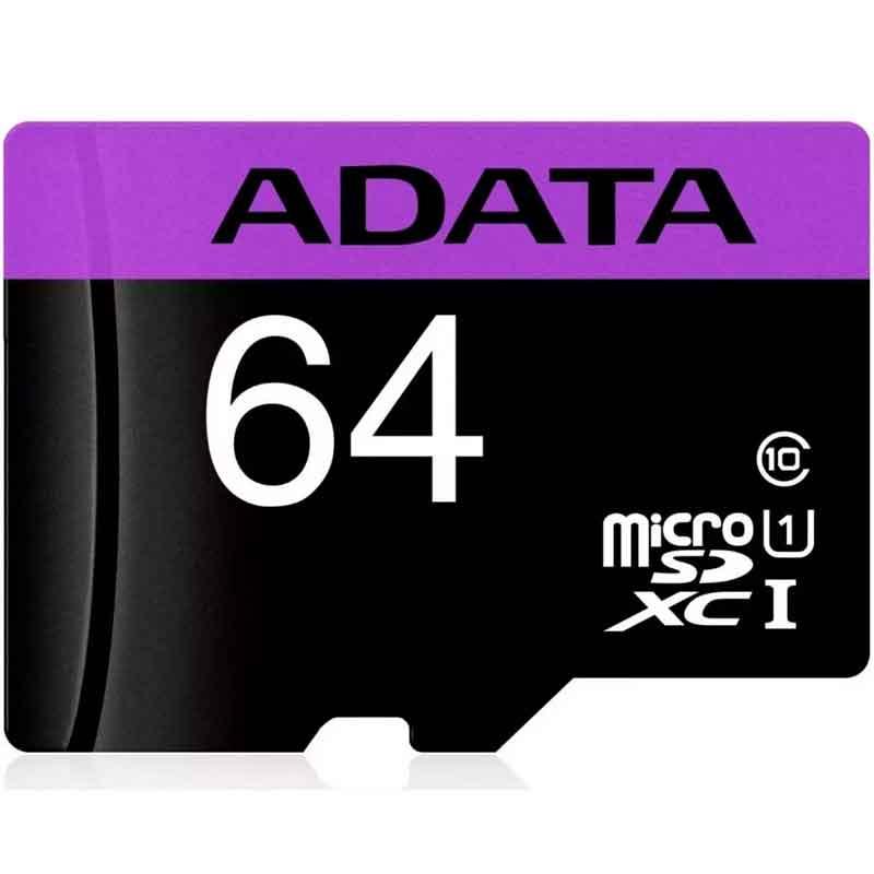 Paquete 10 Micro SD 64GB ADATA Clase 10 Video Full HD AUSDX64GUICL10-RA1