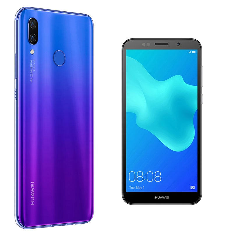 Celular HUAWEI LTE PAR-LX9 NOVA 3 Color MORADO Telcel y llévate de regalo el HUAWEI LTE DRA-LX3 Y5 2018