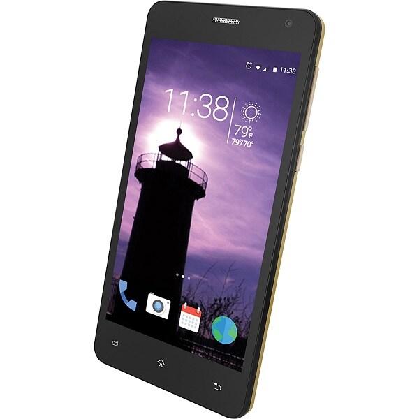 "Slide  Telefono InteligenteModelo SP5043GD pantalla 5"", 4 GB, Color Dorado, Liberado"