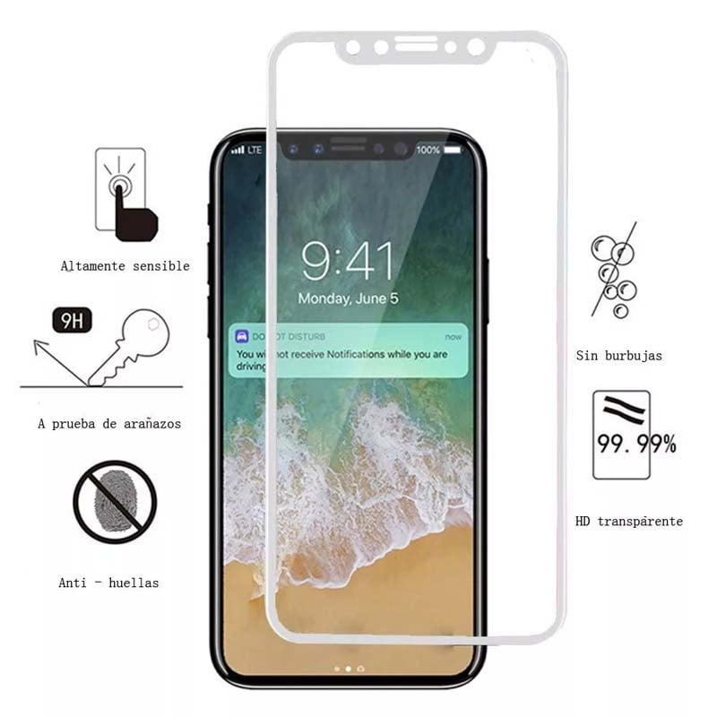 Cristal Glass Templado Semi Curvo 5d Iphone X / Xs