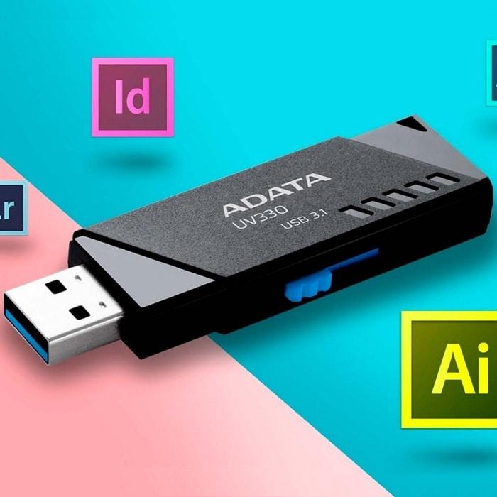 Memoria Flash USB 3.1 Adata UV330 16GB Negra AUV330-16G-RBK