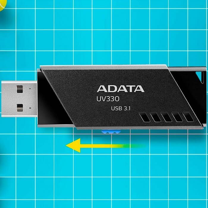 Memoria Flash USB 3.1 Adata UV330 64GB Negra AUV330-64G-RBK
