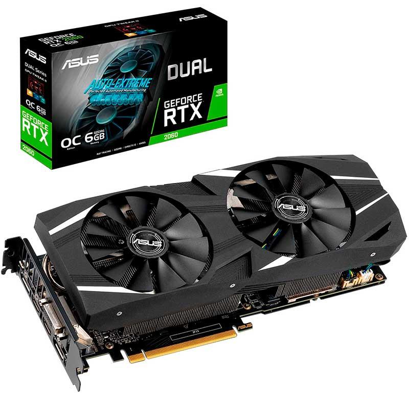 Tarjeta de Video ASUS RTX 2060 OC 6GB DDR6 DUAL-RTX2060-O6G