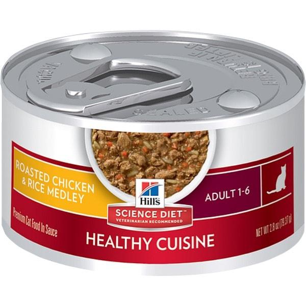 Hills Science Diet Alimento Húmedo para Gato Adulto Cocina Saludable Roasted Chicken & Rice Medley 0.08 Kg