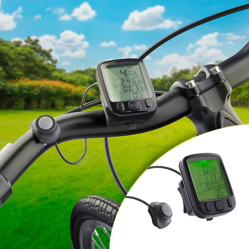 Velocímetro y medidor de distancia para bicicleta