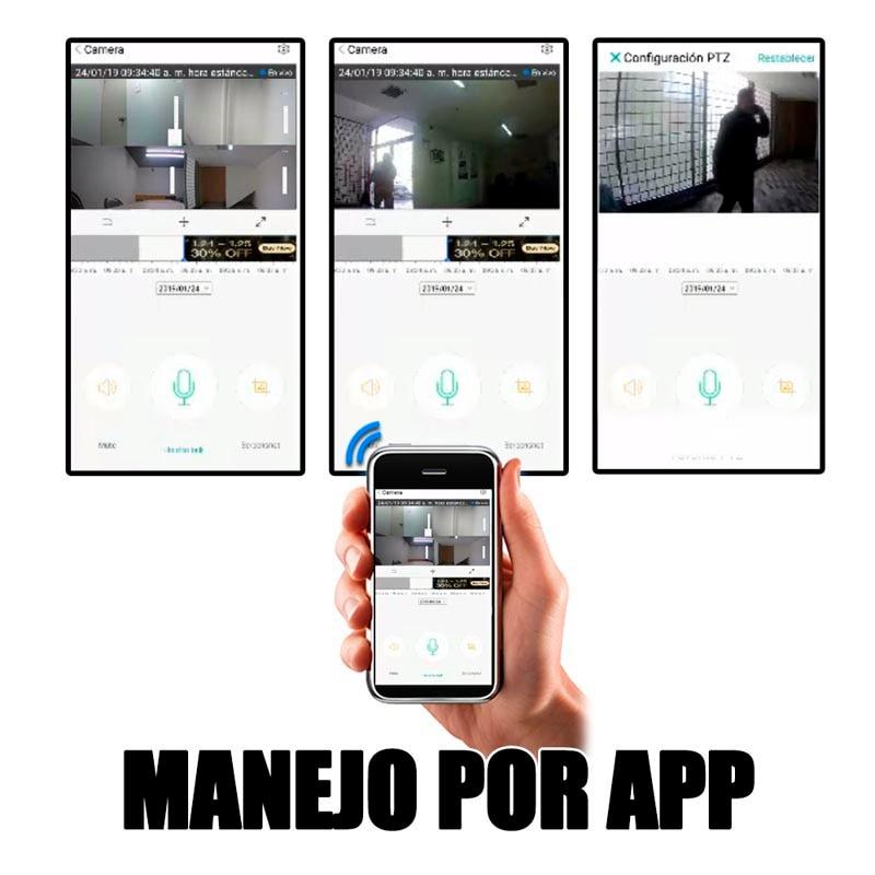 Cámara Ip Wifi Cctv Video 1080p Audio Graba En La Nube Y Sd