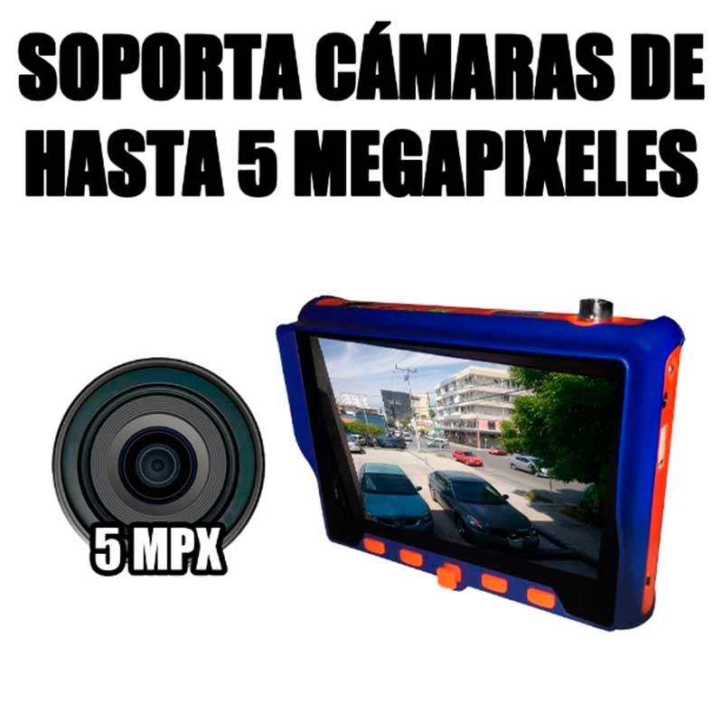 Probador Tester Camaras CCTV 4en1 Ahd Cvi Tvi 5 Megapixeles