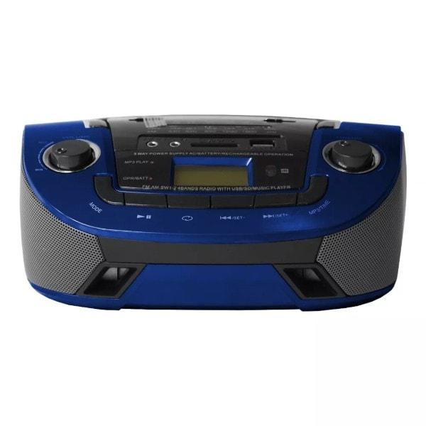 Radio FM Akustik AK-2508UR1A Azul, USB Micro SD