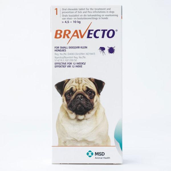 Bravecto Desparacitante para Perro Raza Pequeña de 4.5-10 kg 1 comp de 250 mg