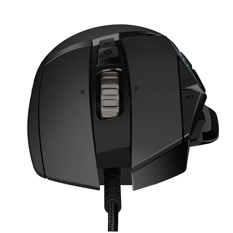 Mouse Logitech Gaming G502 Hero 16000DPI 11 Botones color Negro