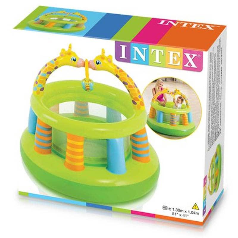 Corralito Inflable Mini Gym Jirafas 130x104 cm Intex