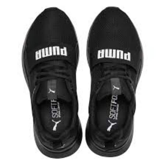 Tenis Puma Wired Jr Negro Blanco 366901 01