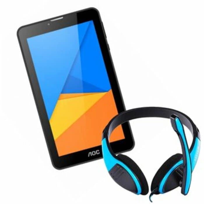 "Tablet Aoc A726 7"" Almacenamiento 8GB Android Wifi - Negro +Audífonos"