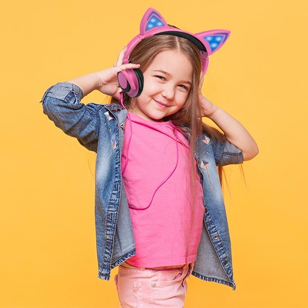 Audifonos Diadema Master Orejas de gato Rosa MS-EARCATP