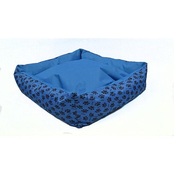 Cama Grande para Mascota Huellitas Azul Lunics Pets