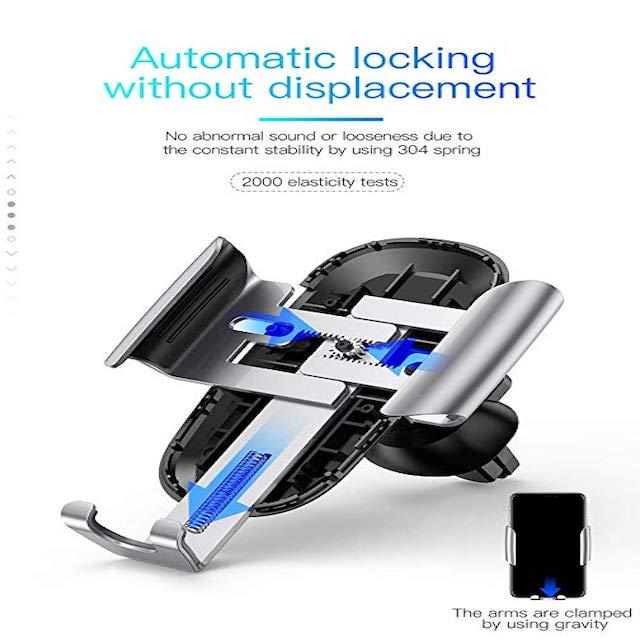 Soporte Future Gravity para Auto Ventallina de Aire Azul