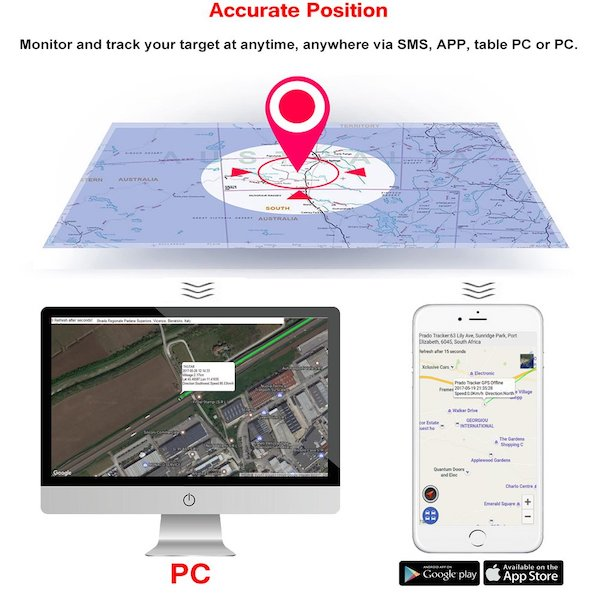 Mini Rastreador GPS de Uso Rudo TK1000 para Personas Vehículos o Mascotas