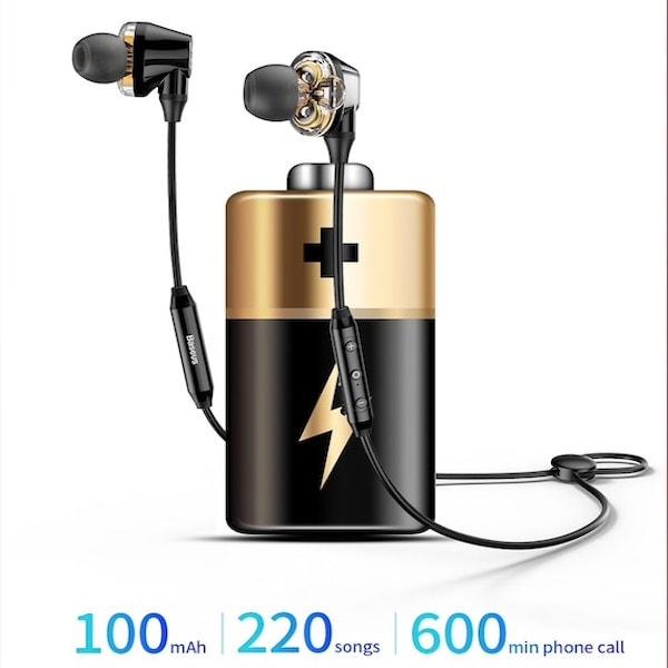 Audífonos Deportivos Encok S10 Dual MovingCoil Bluetooth Dual Driver HiFi IPX5 Negro