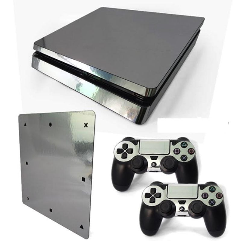 Ps4 Slim Skin Estampa Pegatina Para Playstation 4 Slim Plata