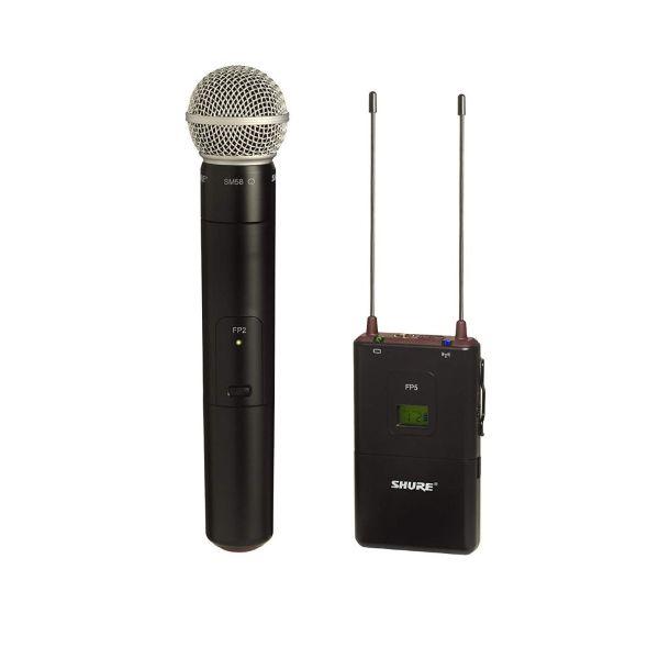 Kit Microfono y Receptor Shure FP25-SM58 Ideal para Videografìa