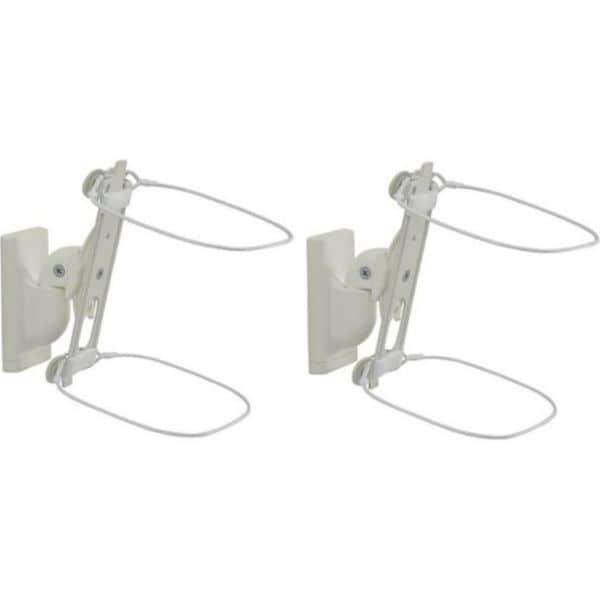 Soportes de pared giratorios Sanus WSWM22-W1 diseñados para Sonos ONE. Play: 1, y Play: 3