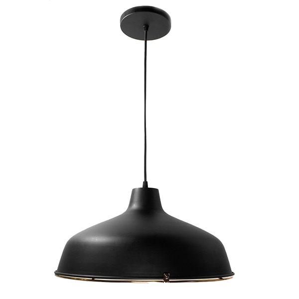 Lámpara Candil Negro Con Rejilla Lámina Acero Interior Maxxi