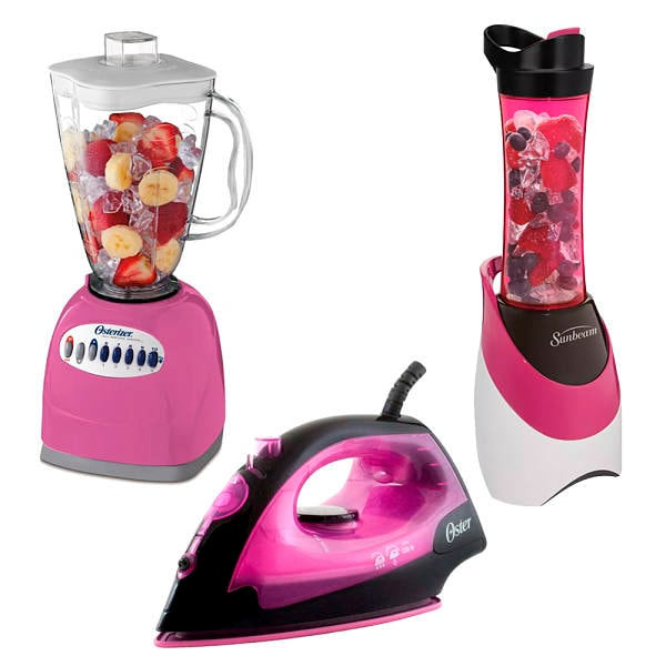 Kit de licuadora y plancha rosa Oster