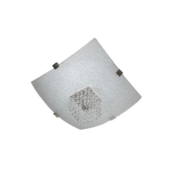 Lámpara Techo Vidrio Craquelado Cristales Decorativo Maxxi