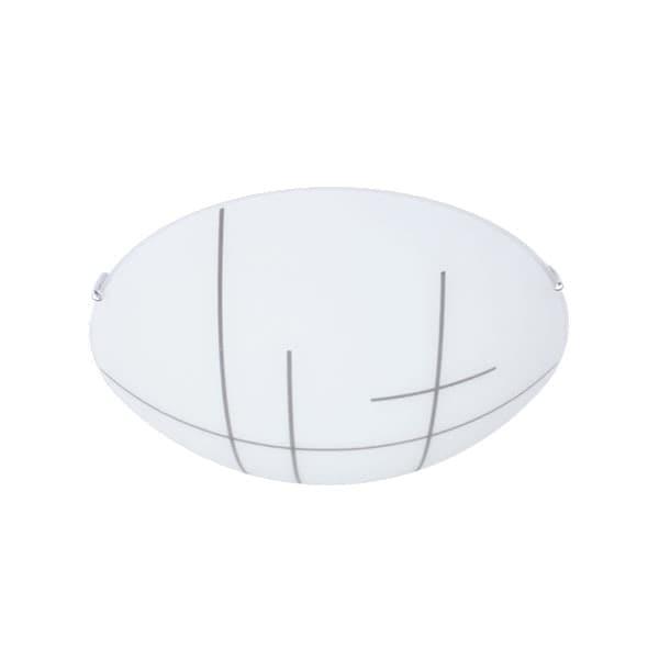 Lámpara Techo Plafón Redondo Vidrio Mate 7x30cm Maxxi