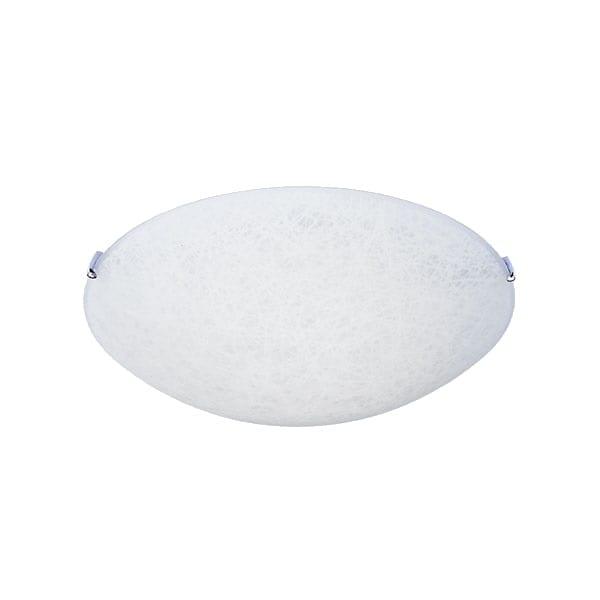 Lámpara Plafón Redondo Textura Blanco Vidrio Mate Maxxi