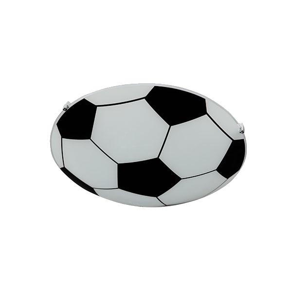 Lámpara Techo Decorativa Balón Futbol Niños Vidrio Maxxi