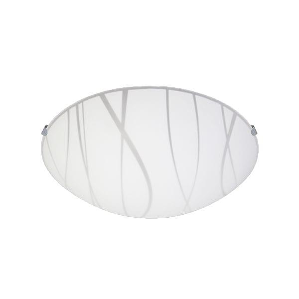 Lámpara Decorativa 7x30cm Blanca Techo Plafón Vidrio Maxxi