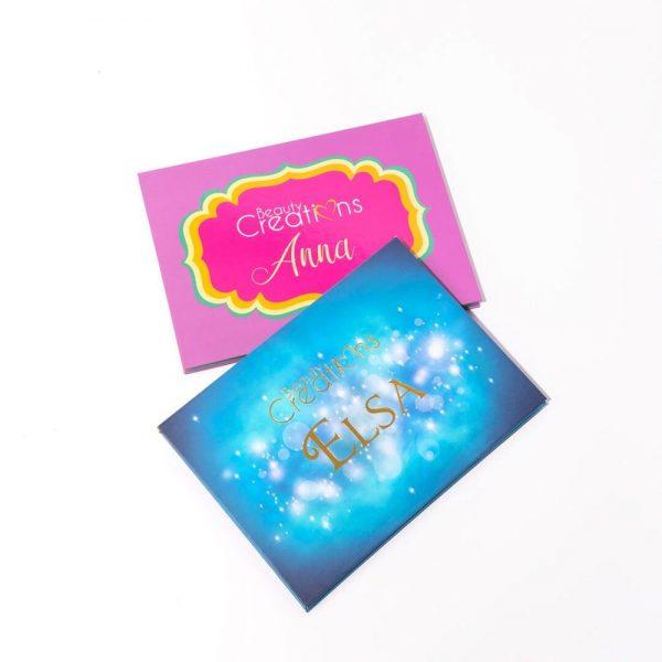 Paquete de 2 paletas de sombras Anna y Elsa de Beauty Creations