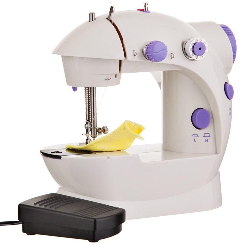 Mini Máquina Coser Portátil Automática 2 Velocidades Pedal Coats
