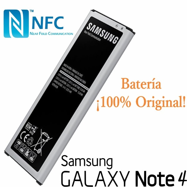 Batería Galaxy Note 4 Negra Nueva Y Original OEM NFC Integrado
