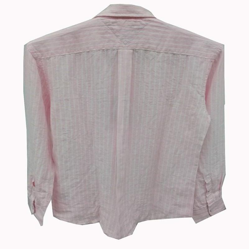 Camisa Tommy Hilfiger de Lino Daniel Shirt Color Rosa Con Blanca