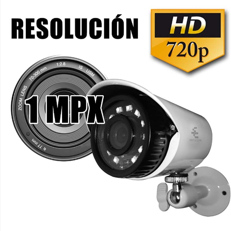 Cámara CCTV Bullet Video 720p 1 MP Metálica Visión